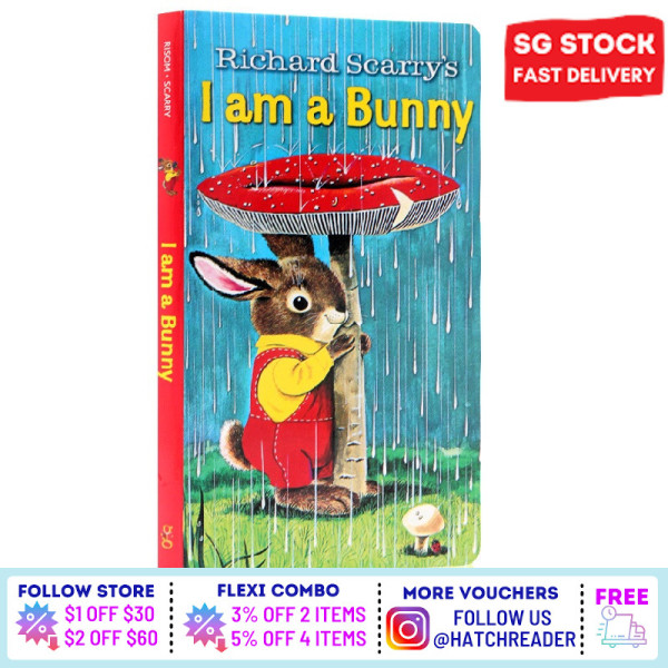 [SG Stock] English Story book  I am a Bunny for children child kids baby 0 1 2 3 4 5 6 years old learning sensory play flash card picture  animal