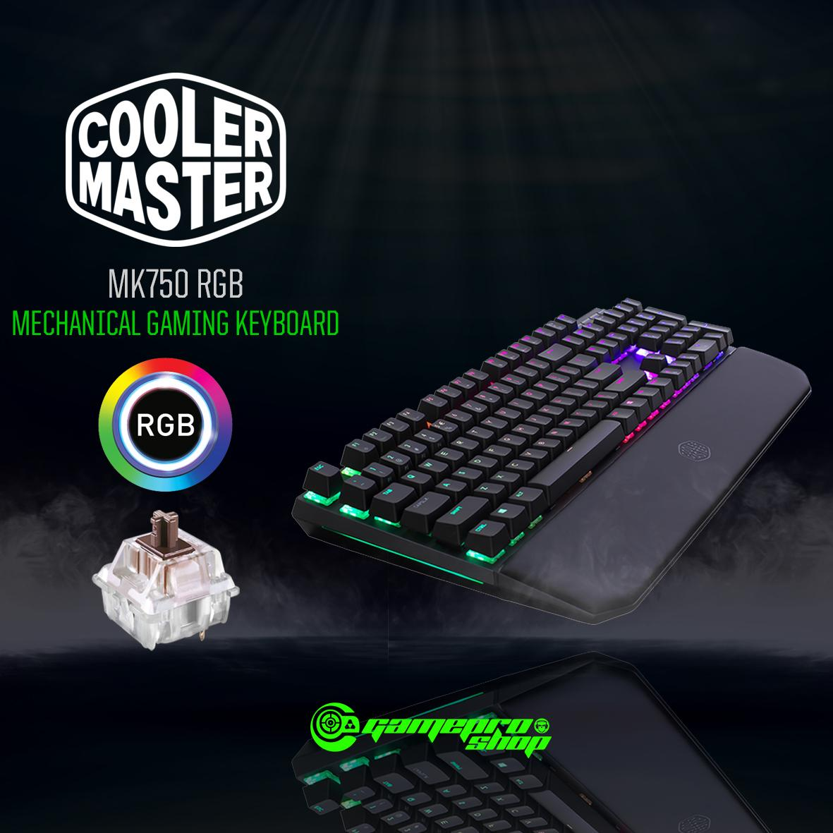 COOLER MASTER MASTERKEYS MK750 RGB ( CHERRY RED / CHERRY BROWN / CHERRY BLUE ) WITH MAGNETIC WRISTREST MECHANICAL GAMING KEYBOARD *11.11 PROMO* Singapore