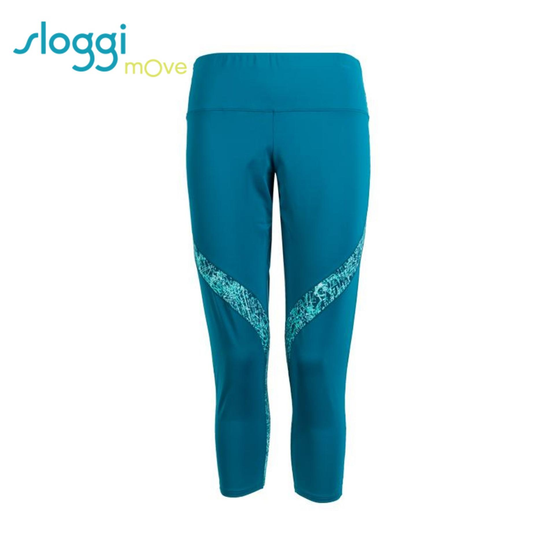 974fd0ebaf0ce Sloggi Move Flow Light Capri Pants in Turquoise Dark Combination