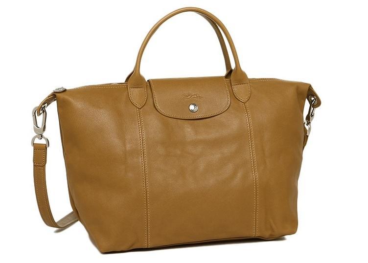 75af8f2f23ca Longchamp Le Pliage Cuir Tote Bag