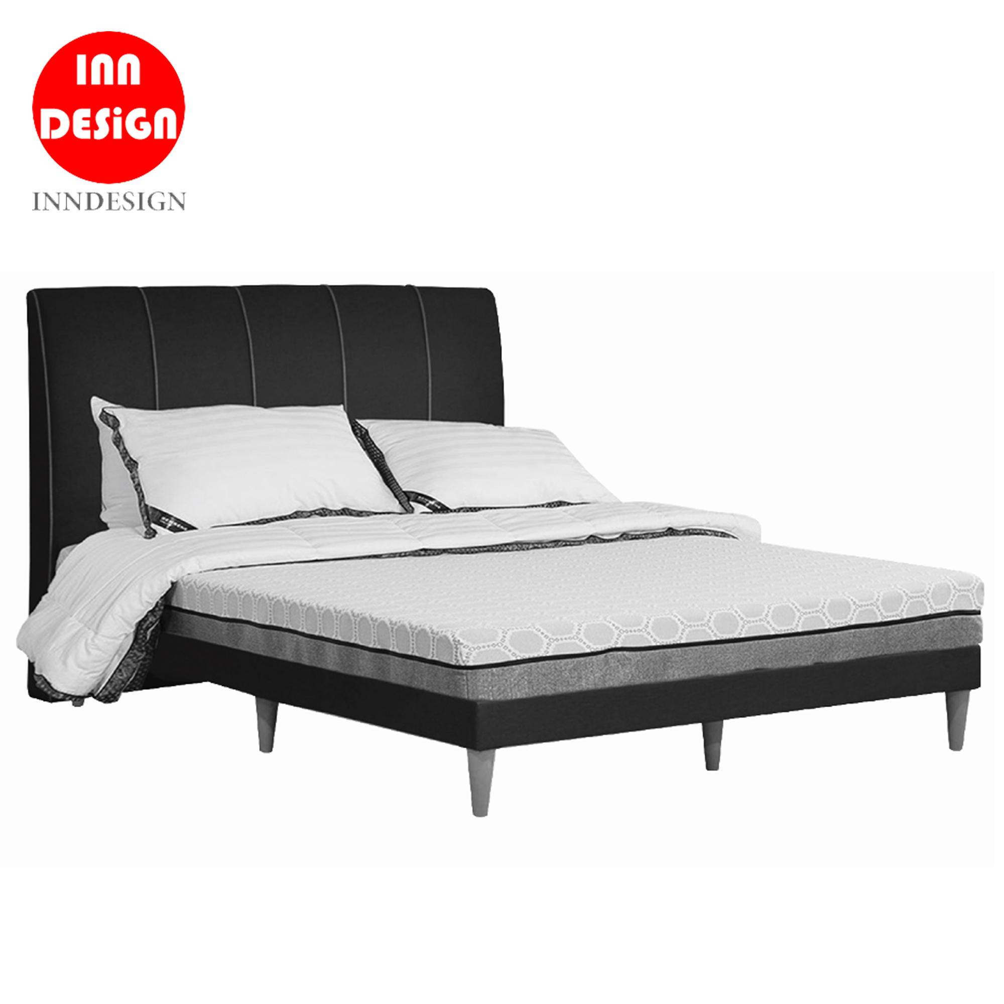 Eme F Fabric Divan BedFrame With Wooded Leg (22 Colours) (All Size Available)