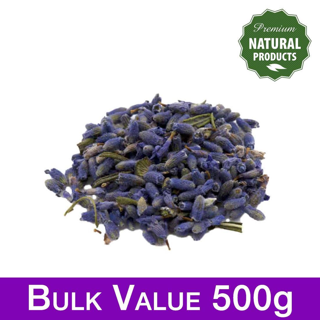 Dried Lavender Flowers, Premium Grade, 500g