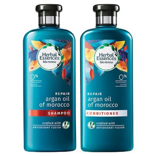 Buy (COMBO PACK) Herbal Essences Argan Oil Shampoo+Conditioner 400ml Singapore
