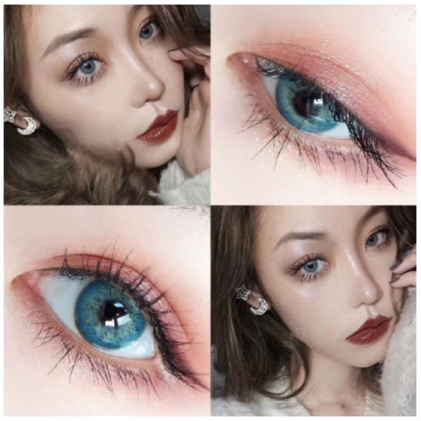 Buy Natural Tone Color Eye Contact Lenses, 2pcs/pair STYLE: NATURAL BLUE Singapore