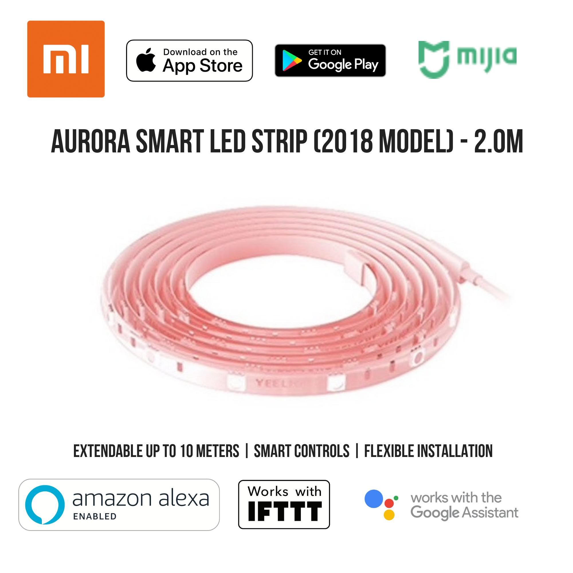 Yeelight Aurora Smart Led Lightstrip - Works With Google Home / Assistant, Amazon Alexa / Echo, Ifttt By Aftermarket.