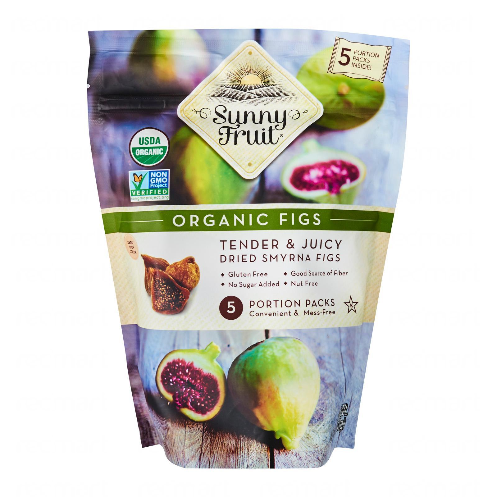 Sunny Fruit Organic Figs (5 Packs) - By Wholesome Harvest