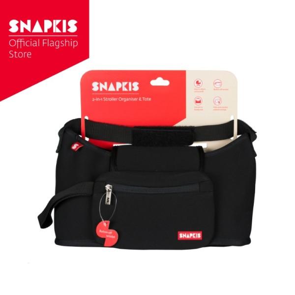 Snapkis 2-in-1 Stroller Organiser & Tote (Black) Singapore