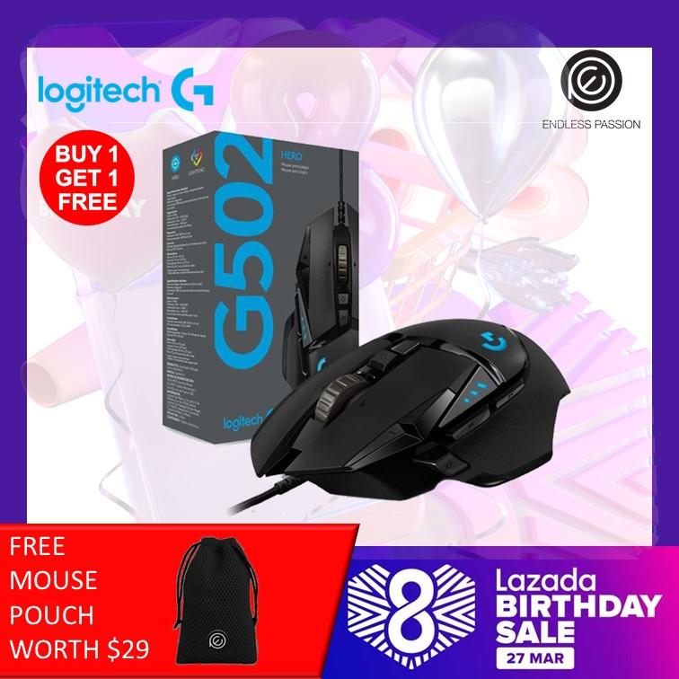 Logitech G502 Hero Gaming Mouse (Buy 1 Get 1 Free)