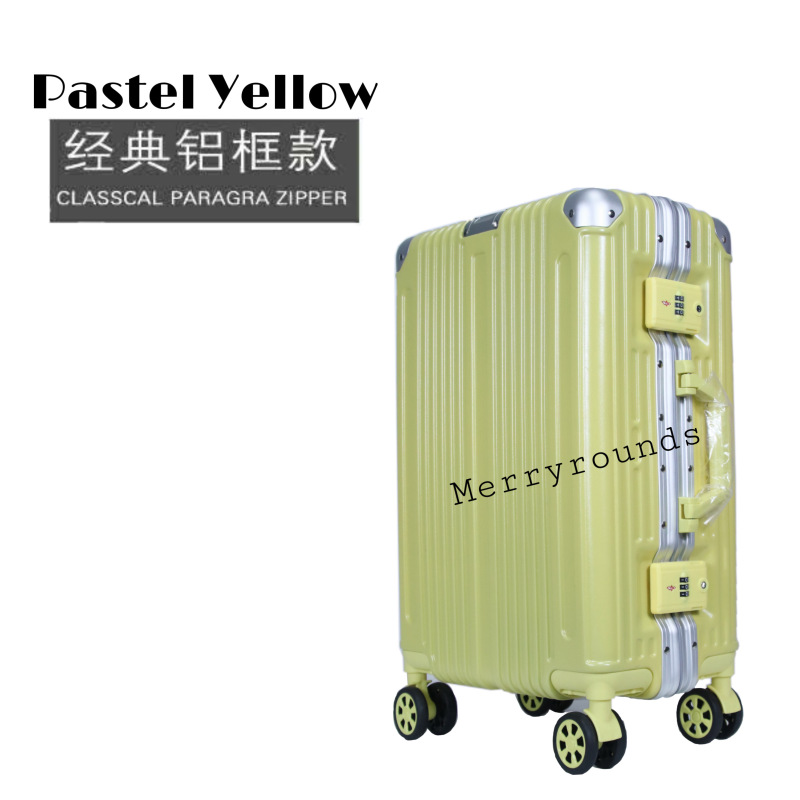 2020 New Aluminium Alloy Frame Travel Lightweight Luggage Case With TSA Big Digit Lock / Cabin Size Suitcase Trolley Bag / 360 Rotating Wheels 20 22 24 26 28 Inch Hand Carry Boarding Sets Free Cover Traveller Check In On board Shell Hard Material Baggage