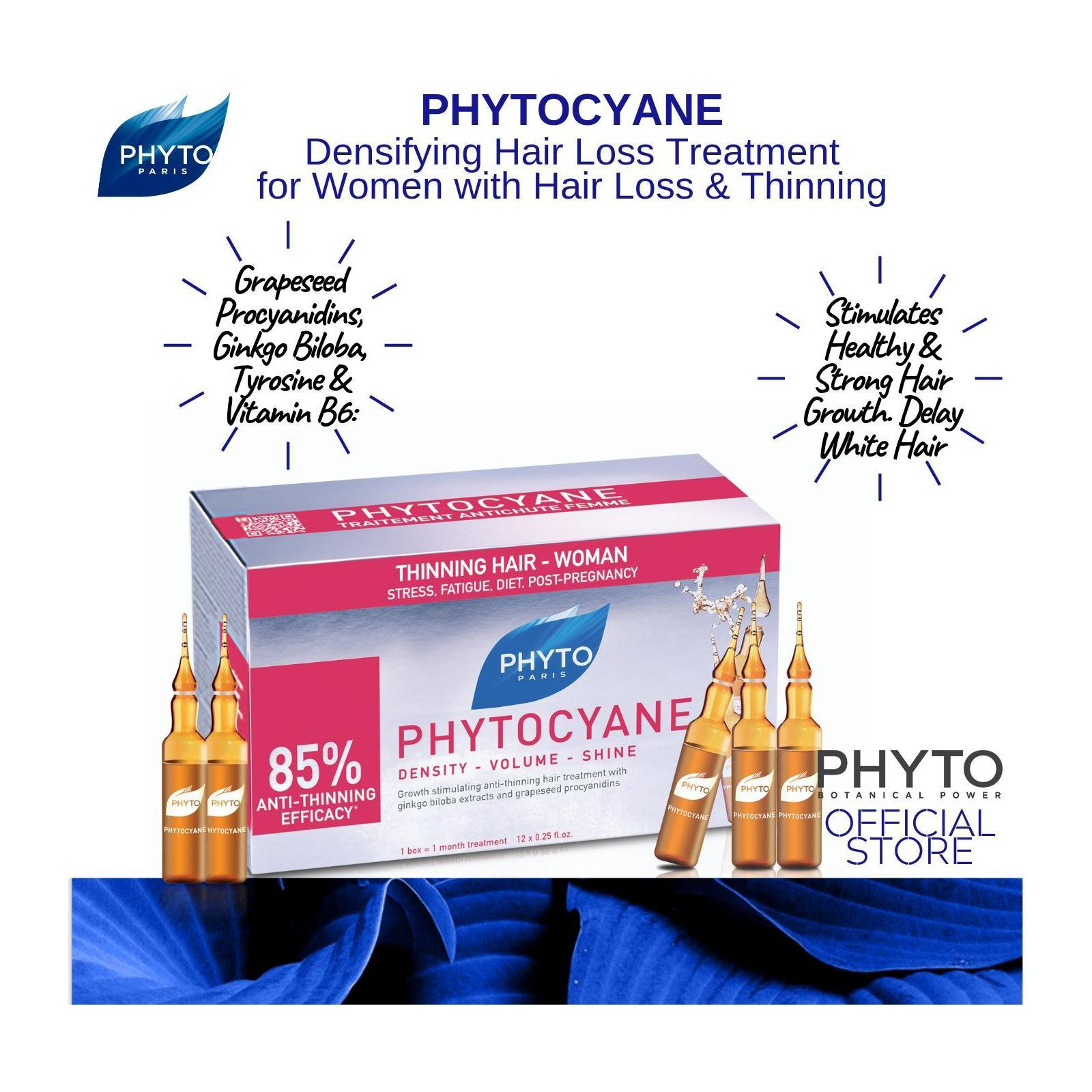 Phyto Phytocyane Revitalizing Women Hair Loss Treatment Ampoules (85% Efficacy)