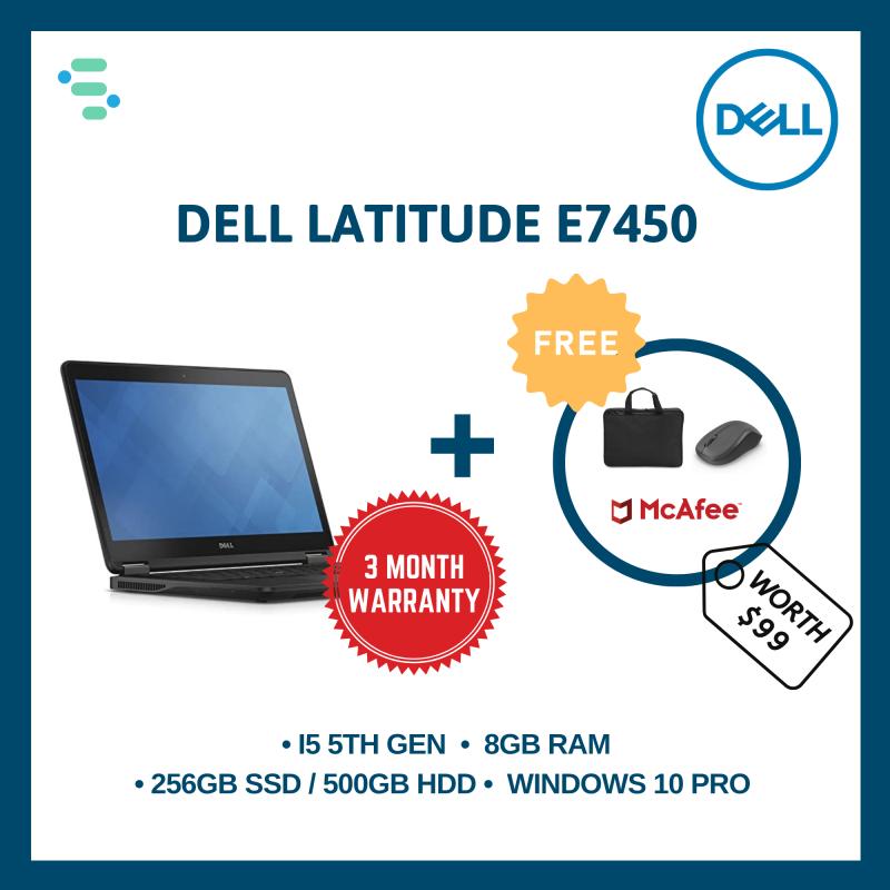 [Refurbished] Dell Latitude E7450 | 14 INCH; | Intel core i5-5300U 5th Gen | 8GB Ram | 500GB HDD / 256GB SSD | 90 Days Warranty | FREE Laptop Bag + Wireless Mouse