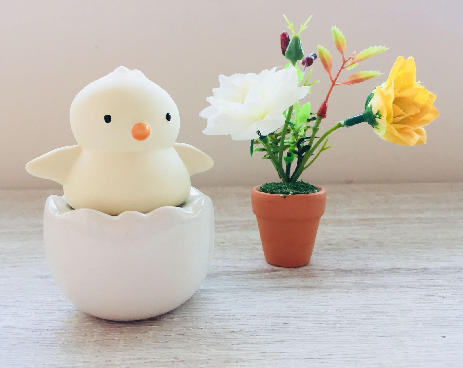 Best Gift Idea - Ceramic Fragrance Diffuser Mini Chick Set (Free Fragrance Oil 30ml)