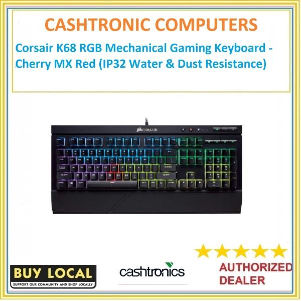 Corsair K68 RGB Mechanical Gaming Keyboard - Cherry MX Red (IP32 Water & Dust Resistance) Singapore