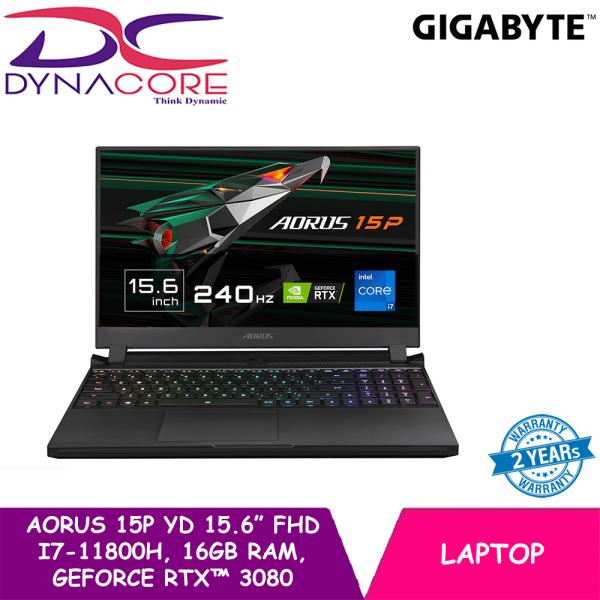 【READY STOCK】DYNACORE - GIGABYTE AORUS 15P YD 15.6 In Thin Bezel FHD | i7-11800H | 16GB RAM | GeForce RTX 3080 | 1TB NVMe PCIe Gen4 | WIN 10 HOME