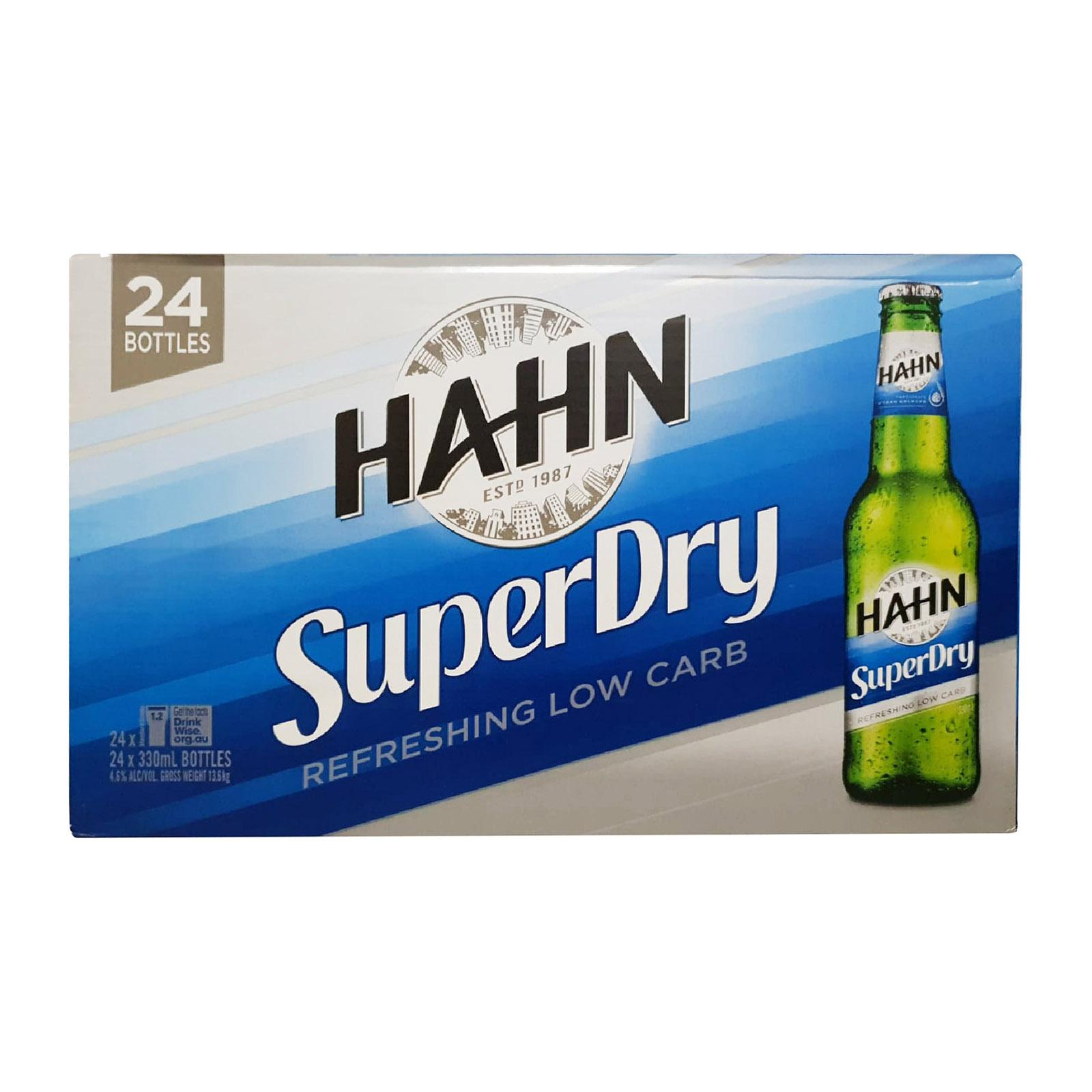 Hahn SuperDry (Low Carb) 4 x 6s x 330ml Bottle
