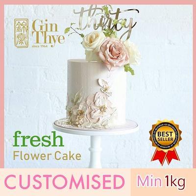 Wedding Celebrations Cake 1kg [ Fresh Baked ] By Gin Thye.
