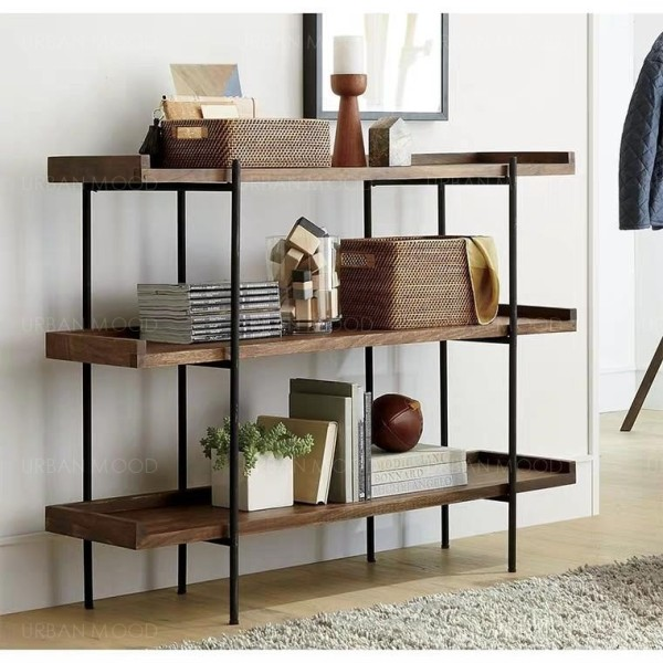 [PRE-ORDER] TORY Industrial Solid Wood Display Shelf