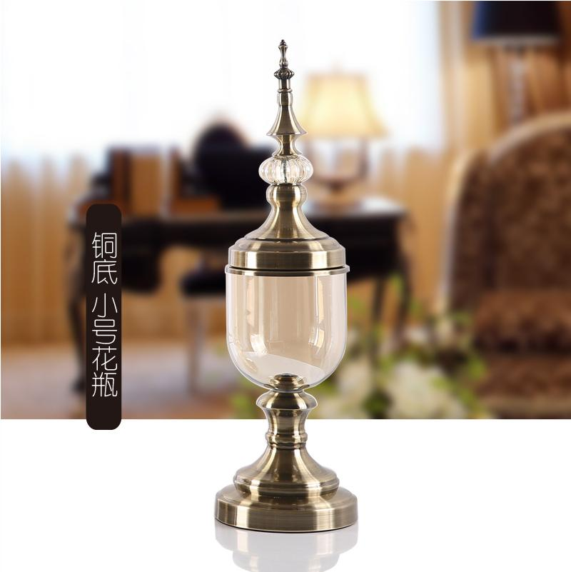 European Style Glass Vase Decoration Artificial Flower Set 58 Living Room Table Decoration Model Soft Loading Asian Creative Luxury Art Works