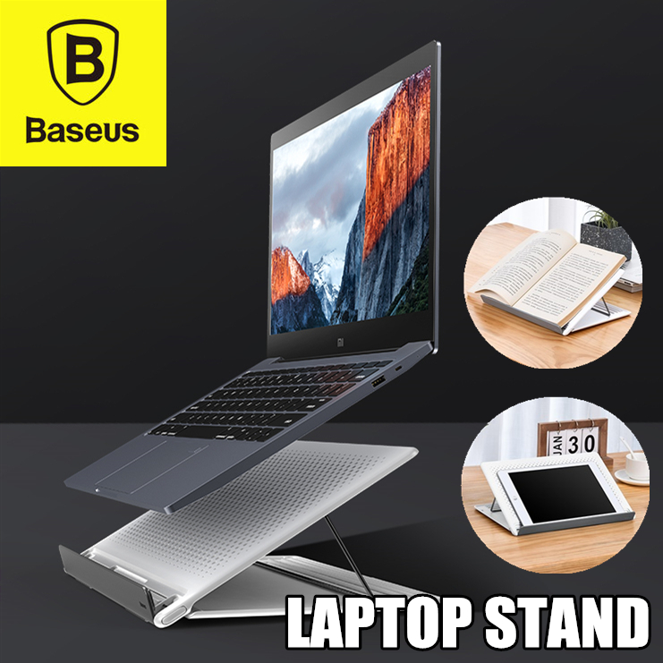 Baseus Mesh Laptop Stand Adjustable Portable Foldable Notebook Table Laptop Stand Tray Computer Desk