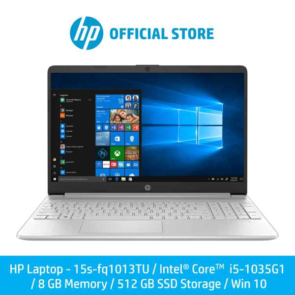 [Pre-Order] HP Laptop 15s-fq1013TU / Intel® Core™ i5-1035G1 / 8 GB Memory / 512 GB SSD Storage / Win 10 [Ship Within 7 Days]