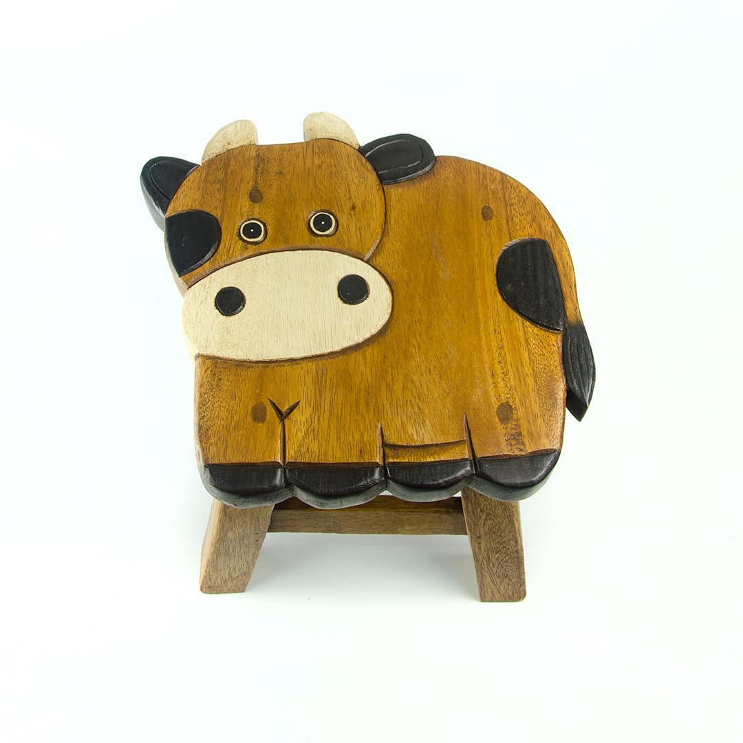 Wooden Kids Stool Handcrafted Mango Trees