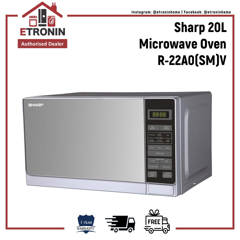 Sharp 20l Microwave Oven R-22a0(sm)v.