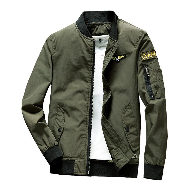 242f551ba5d Pilots Jacket man Baseball Uniform Autumn   Winter Thick Short America Air  Force Slim Fit MA1
