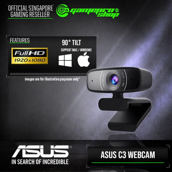 ASUS C3 Full HD 1080P/30fps Webcam (Mac/Windows Support) (2Y)