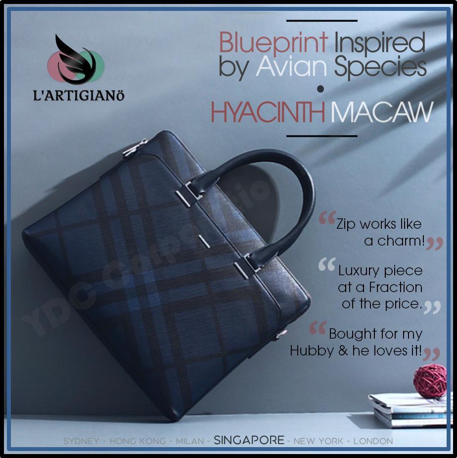 Lartigiano Men Leather Bag Briefcase Laptop Bag Business Shoulder Messenger Fashion Casual Office Handbag Shoulder Travel Computer Bag By Ydc Corporation Pte Ltd.