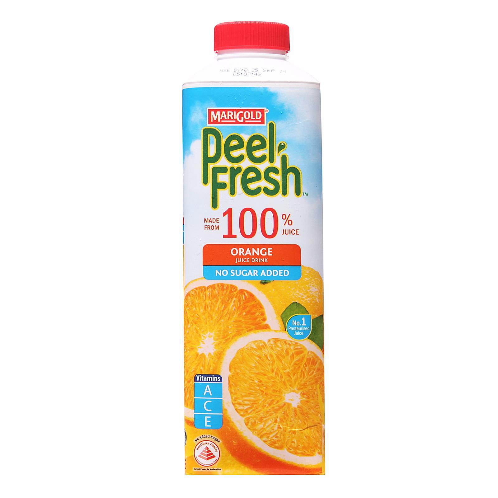 MARIGOLD PEEL FRESH Orange Juice Drink - No Sugar Added 1L