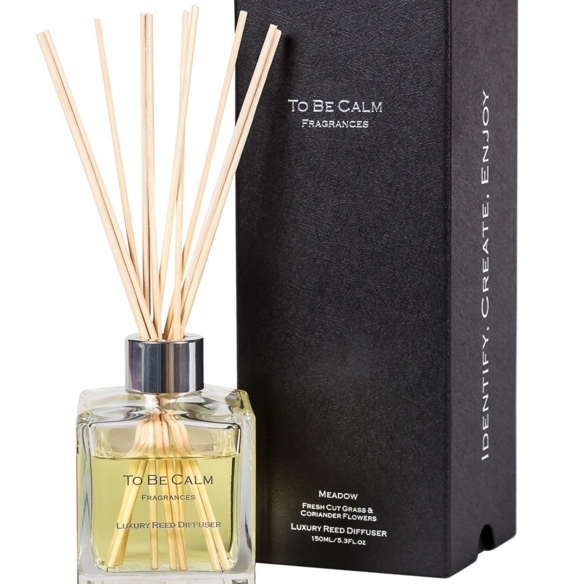 To Be Calm Meadow - Fresh Cut Grass & Coriander Flower - Reed Diffuser