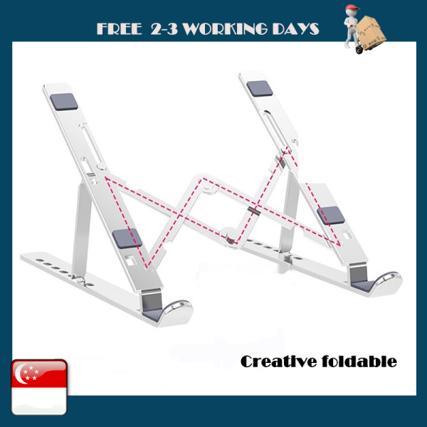 Laptop Tablet PC Cooling Stand Desktop Lifting Stand Base Lifting Stand Support Folding Storage 7-speed