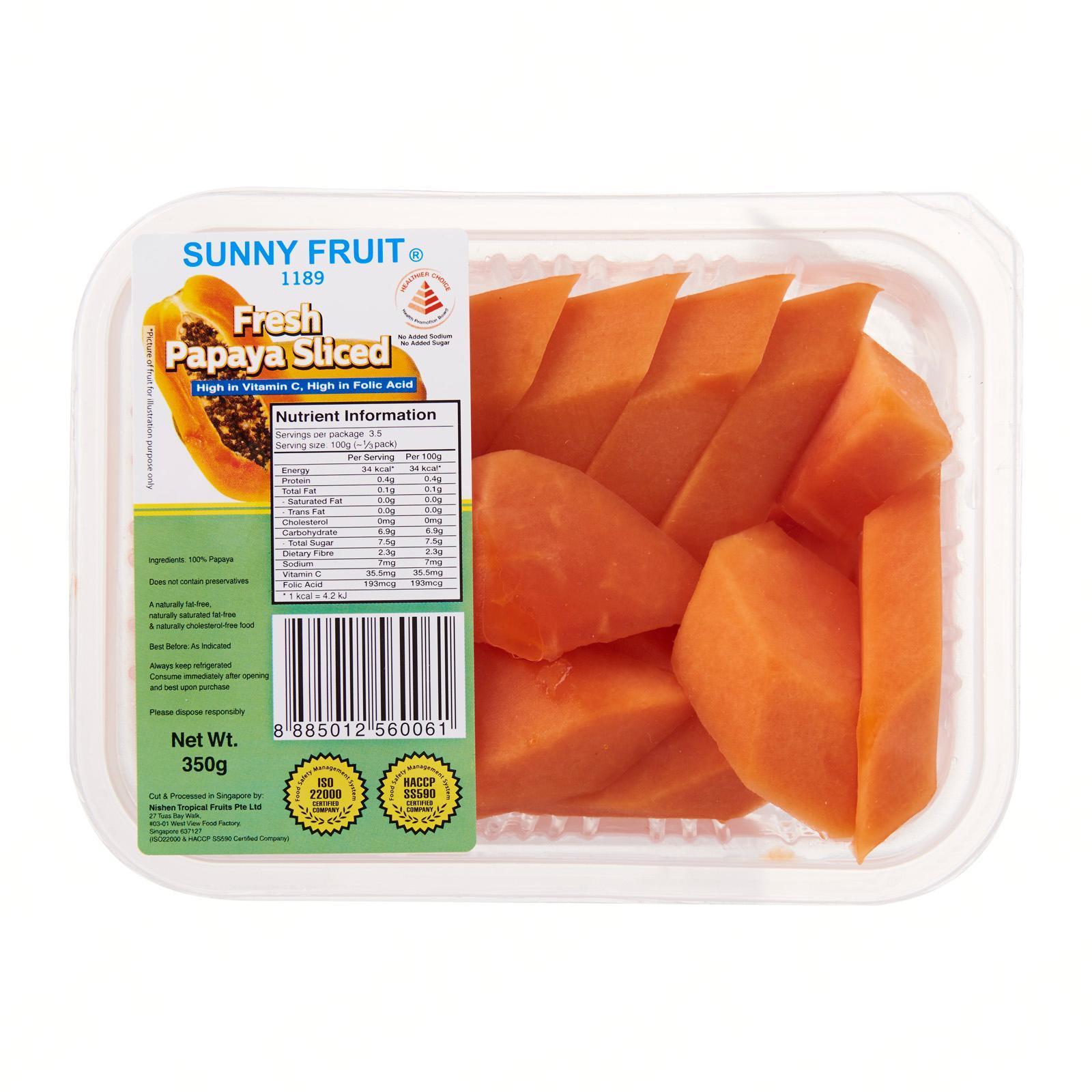 Sunny Fruit Fresh Papaya Sliced
