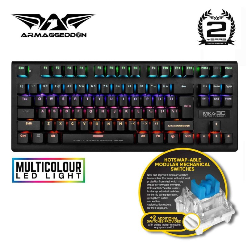 Armaggeddon MKA-3C PsychFalcon Blue Switch Mechanical Gaming Keyboard Singapore