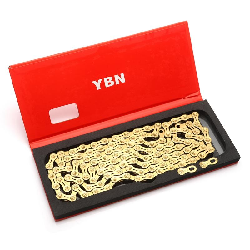 Mua YBN Ultralight 11 Speed Bicycle Chain SLR Gold Hollow MTB Road Bike Chain for Shimano/SRAM/Campanolo System