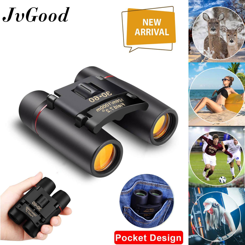 Jvgood Mini Folding Binoculars, 30 X 60 Telescope Lens Small Binoculars Compact For Adults Kids, Mini Binocular For Bird Watching Traveling Sightseeing, Lightweight Pocket Folding Binoculars For Concert Theater Opera.