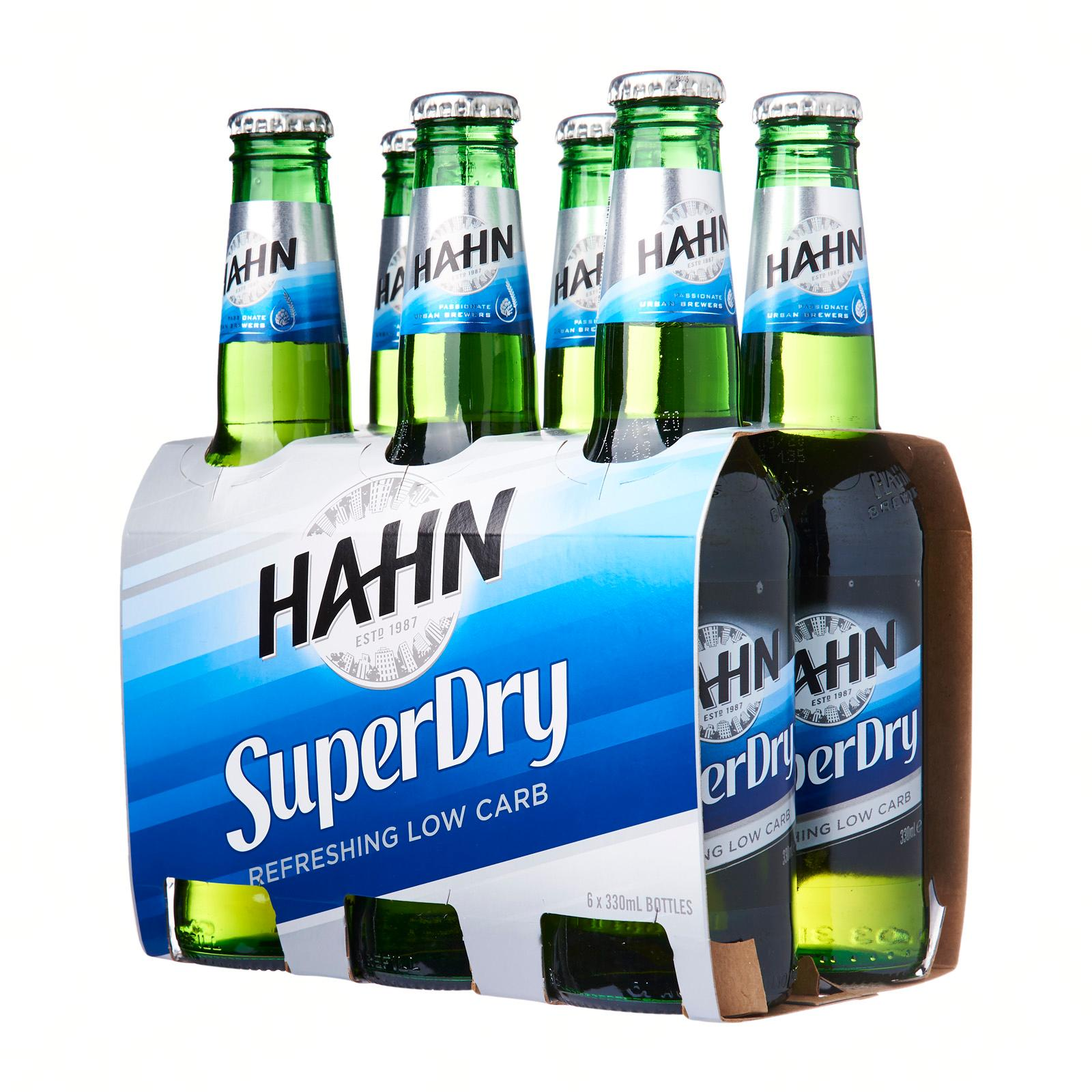 Hahn SuperDry (Low Carb) 6s x 330ml Bottle