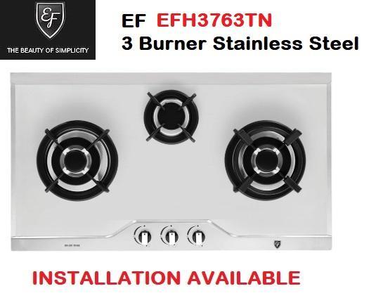 Ef Efh3763tn Vsb 3 Burner Stainless Steel Hob * Fast Delivery.