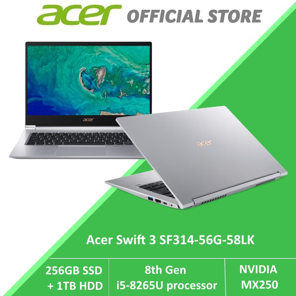 Acer Swift 3 SF314-56G-58LK Thin and Light Laptop (Silver) with 8th Gen Intel i5 processor and MX250