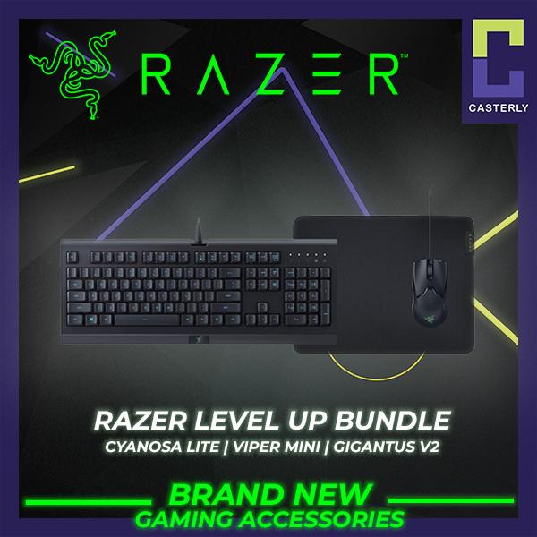 [Brand New] Razer Level UP Bundle (Cynosa Lite keyboard+Viper Mini Mouse+Gigantus v2 Medium) - 2 Years Warranty Singapore