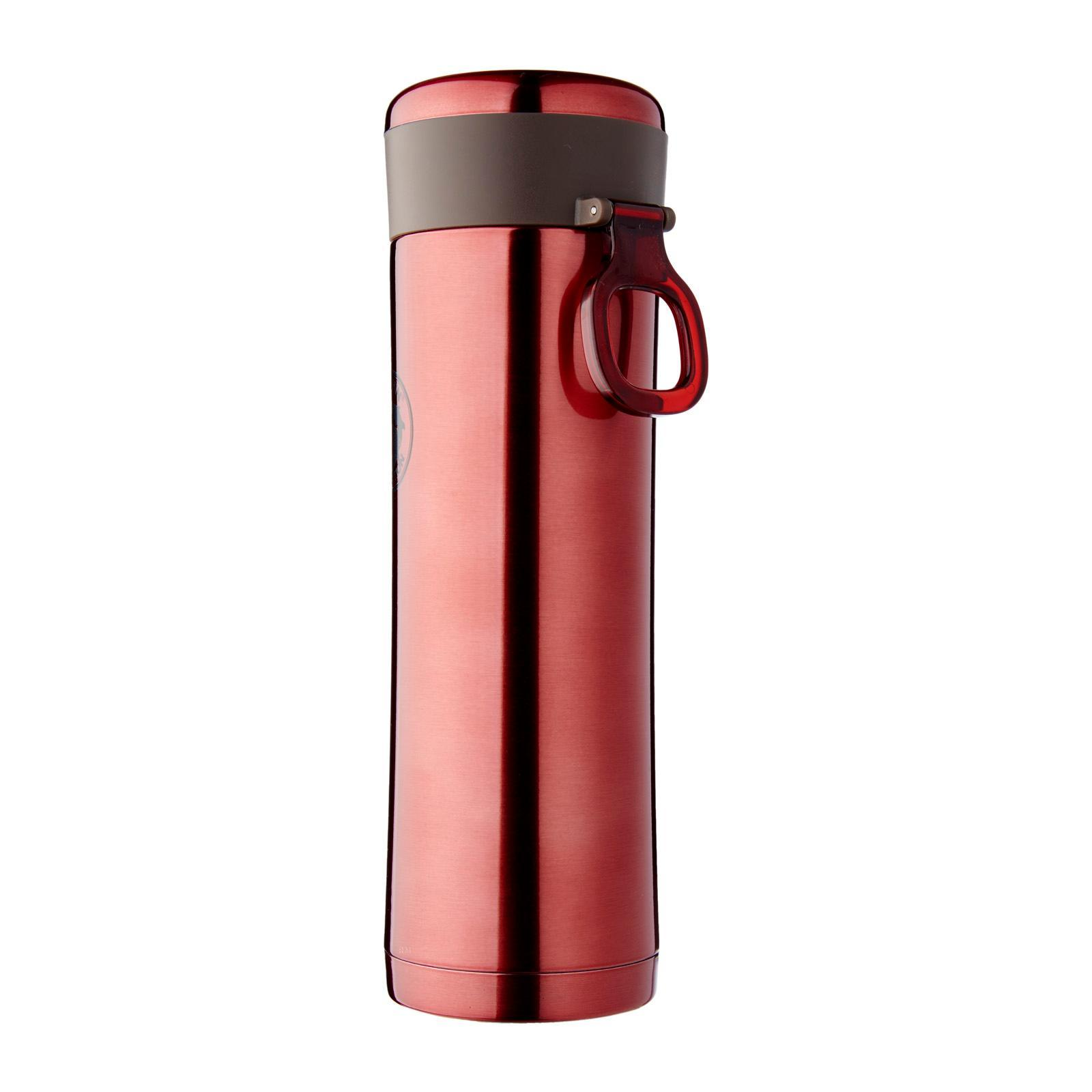 Dolphin Collection Stainless Steel Vacuum Flask With Strainer 420 ML (Red)