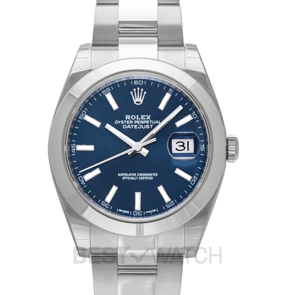 Rolex Datejust 41 Stainless Steel Smooth / Oyster / Blue 126300-2 Malaysia