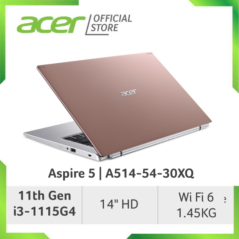 Acer Aspire 5 A514-54 (Pink/Gold) - 14 HD Laptop with Latest 11th Gen Processor