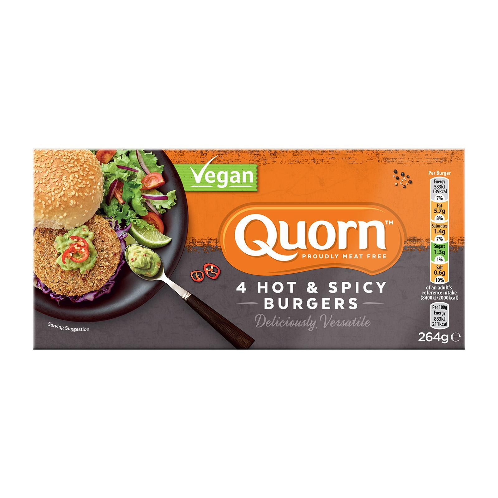 Quorn Vegan Hot And Spicy Burger - Frozen By Redmart.