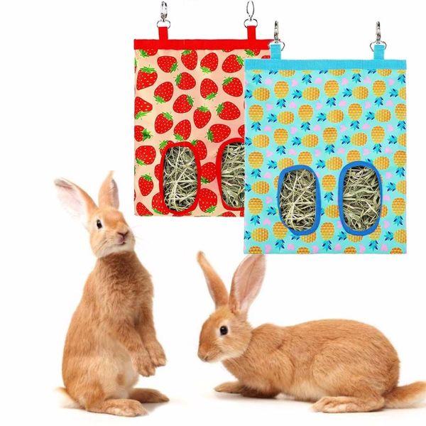 SPZ1131 Bunny Phụ Kiện Đồng Thú Cưng Rabbit Hay Feeder Guinea Chinchilla Máy Phân Phối Cho Ăn Túi Đựng Thức Ăn