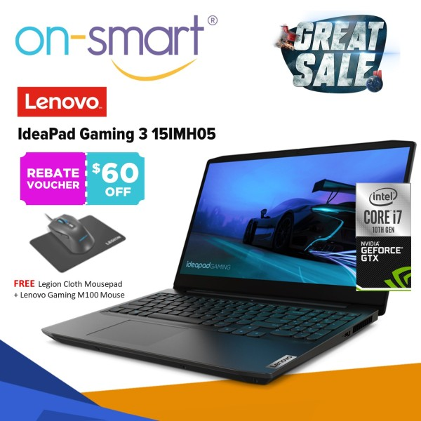 【Next Day Delivery】Lenovo IdeaPad Gaming 3 15IMH05 | Intel Core i7-10750H Processor | 16GB RAM | 512GB PCIe SSD | NVIDIA GeForce GTX 1650 | Windows 10 Home | 3 Years Premium Care Warranty | 81Y400VPSB