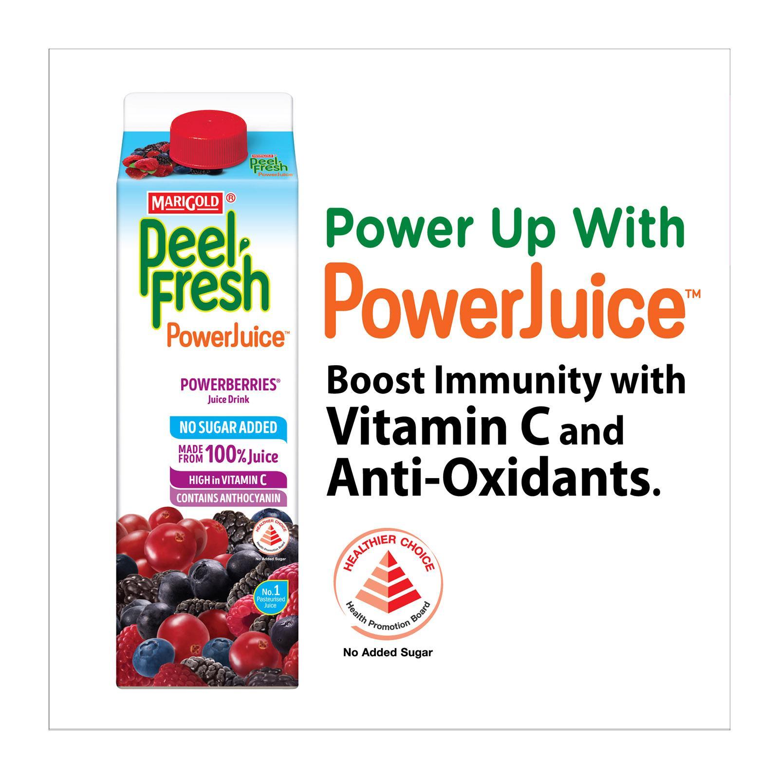 MARIGOLD Peel Fresh No Sugar Added Juice Drink - Powerberries