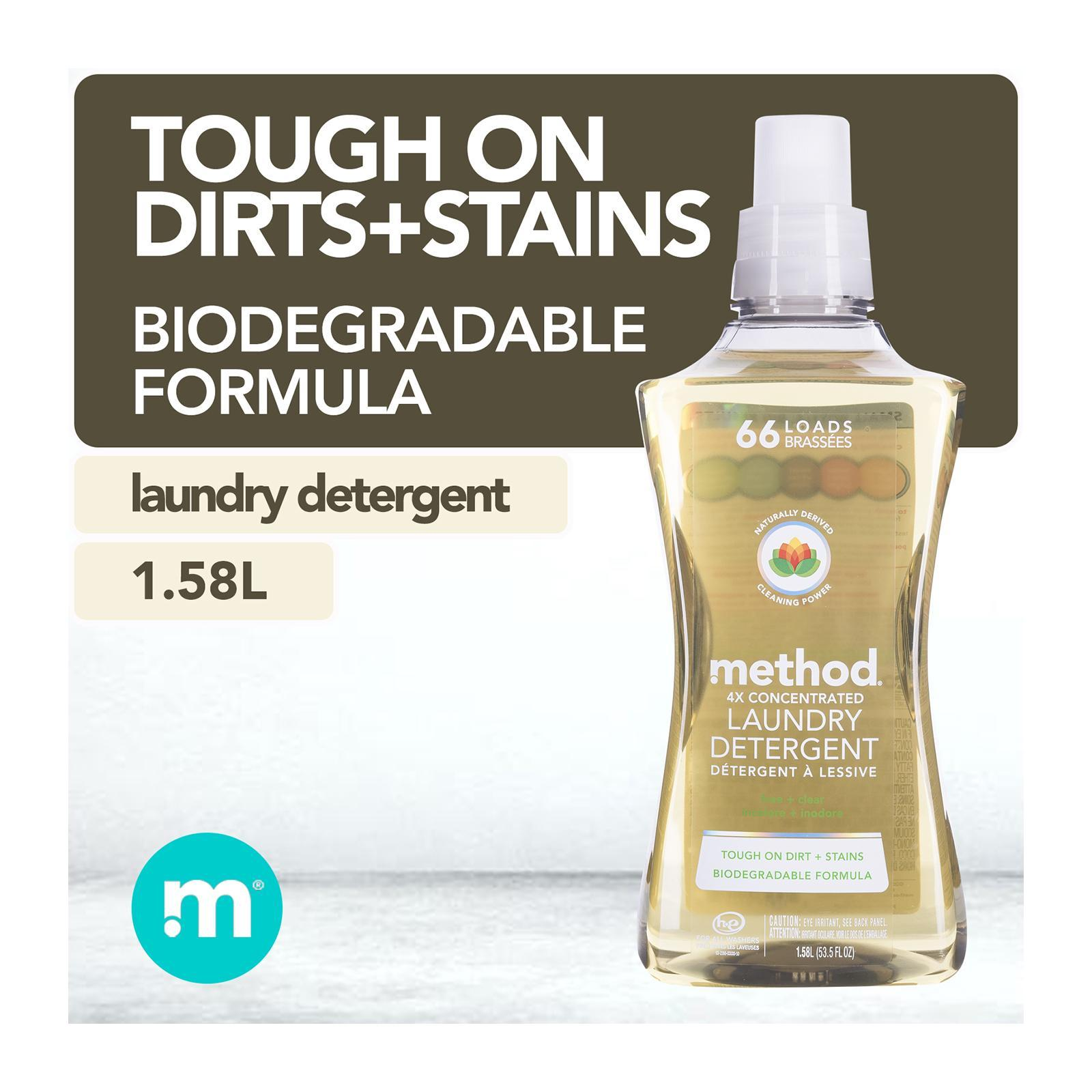 Method 4X Concentrated Laundry Detergent - Free + Clear (66 Loads)