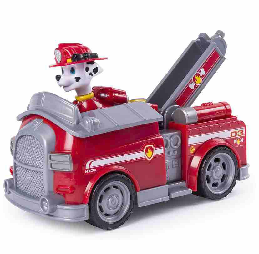 Paw Patrol Marshall's Transforming Fire Truck With Pop-Out Water Cannons, For Ages 3 And Up By Babybloom.
