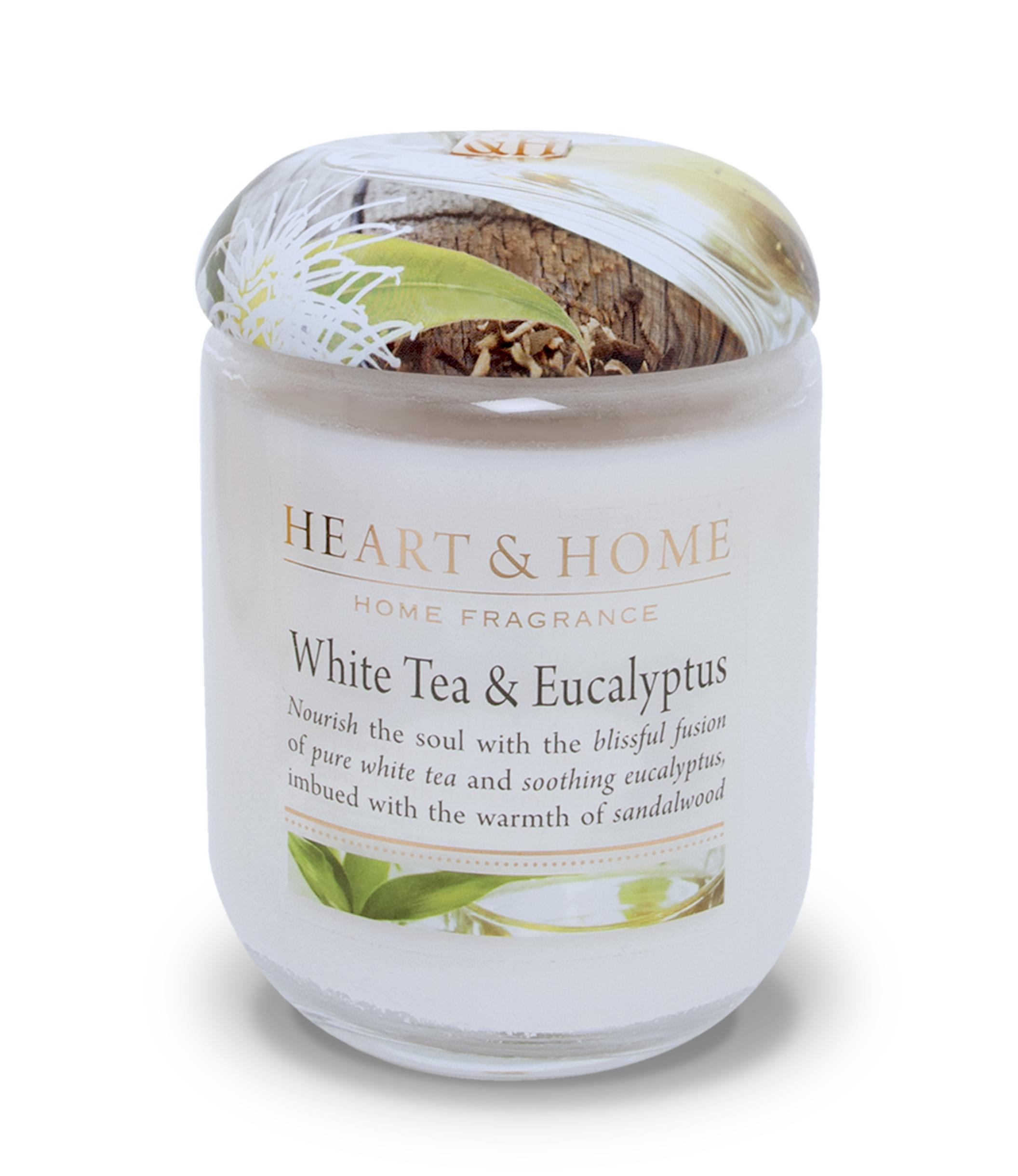 340g Large Candle : White Tea & Eucalyptus